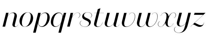 DomaineSansFine RegularItalic Font LOWERCASE