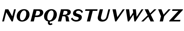 DomaineSansText BlackItalic Font UPPERCASE