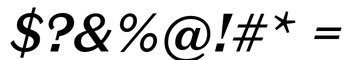DomaineSansText MediumItalic Font OTHER CHARS