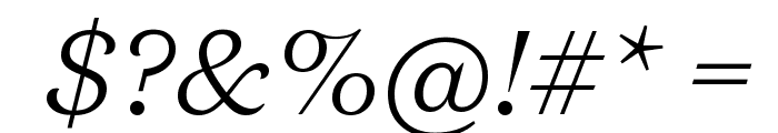DomaineText LightItalic Font OTHER CHARS