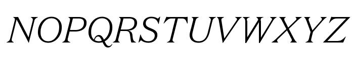 DomaineText LightItalic Font UPPERCASE
