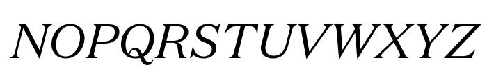 DomaineText RegularItalic Font UPPERCASE