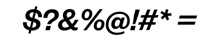 FoundersGrotesk MediumItalic Font OTHER CHARS