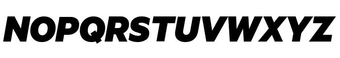 Metric BlackItalic Font UPPERCASE