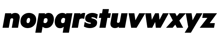 Metric BlackItalic Font LOWERCASE