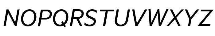 Metric RegularItalic Font UPPERCASE