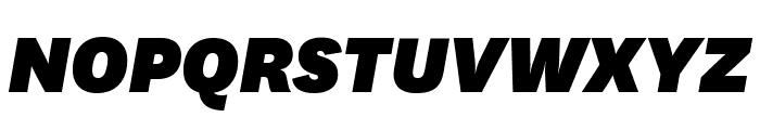 National BlackItalic Font UPPERCASE