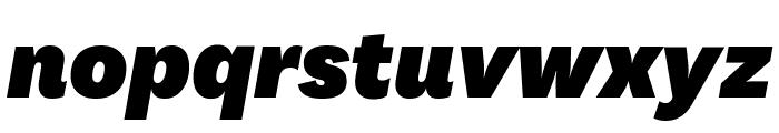 National BlackItalic Font LOWERCASE