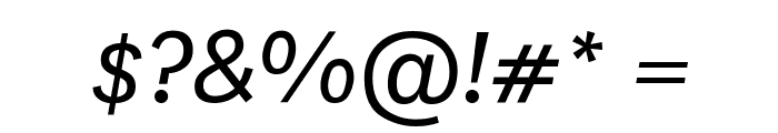 National BookItalic Font OTHER CHARS