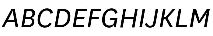 National BookItalic Font UPPERCASE