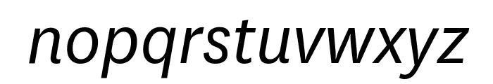 National BookItalic Font LOWERCASE