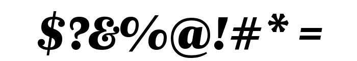 Newzald BlackItalic Font OTHER CHARS