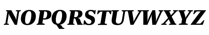 Newzald BlackItalic Font UPPERCASE