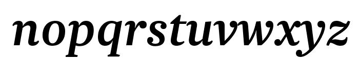 Newzald MediumItalic Font LOWERCASE