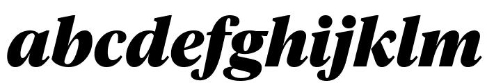 TiemposHeadline BlackItalic Font LOWERCASE