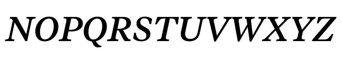 TiemposText MediumItalic Font UPPERCASE