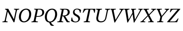 TiemposText RegularItalic Font UPPERCASE