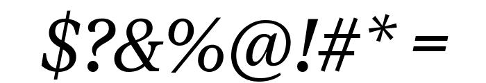 TiemposTextWeb RegularItalic Font OTHER CHARS