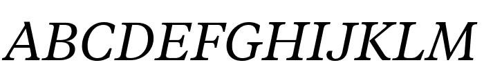 TiemposTextWeb RegularItalic Font UPPERCASE