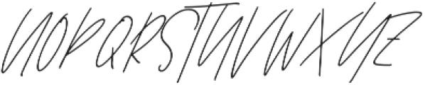 Affinity All Caps Italic ttf (400) Font LOWERCASE