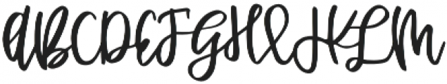 Affinity Grove Script otf (400) Font UPPERCASE