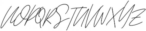 Affinity Regular Italic ttf (400) Font UPPERCASE