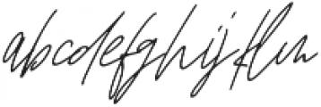 Affinity Regular Italic ttf (400) Font LOWERCASE