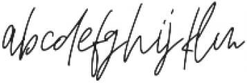 Affinity Regular ttf (400) Font LOWERCASE