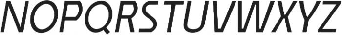Affluent Italic otf (400) Font UPPERCASE
