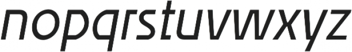 Affluent Italic otf (400) Font LOWERCASE