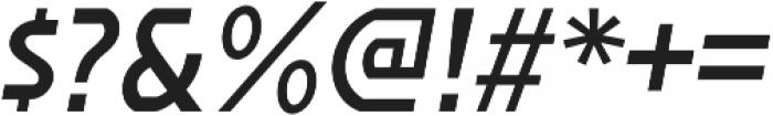 Affluent SemiBold Italic otf (600) Font OTHER CHARS