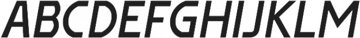 Affluent SemiBold Italic otf (600) Font UPPERCASE
