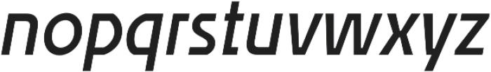 Affluent SemiBold Italic otf (600) Font LOWERCASE