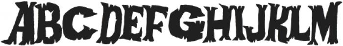 Afraid Of The Dark otf (400) Font UPPERCASE