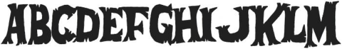Afraid Of The Dark otf (400) Font LOWERCASE
