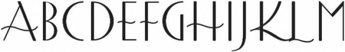 Afternoon Tea Regular otf (400) Font LOWERCASE