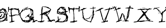 Afectionless Font UPPERCASE