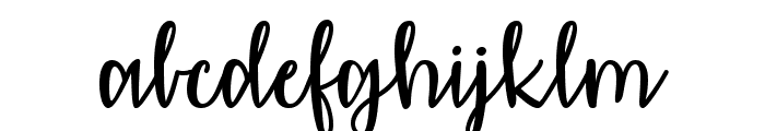 Affectionately Yours Font LOWERCASE