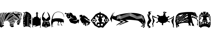 AfricArtes Font LOWERCASE