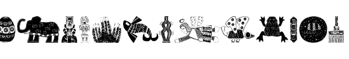 AfricaArtTwo Font UPPERCASE