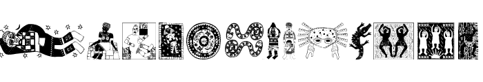 AfricaArtTwo Font LOWERCASE