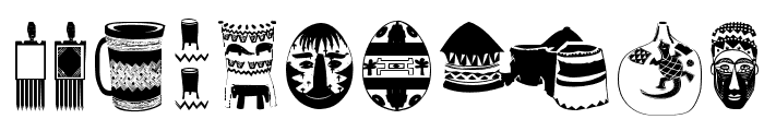AfricanArtifacts Font OTHER CHARS