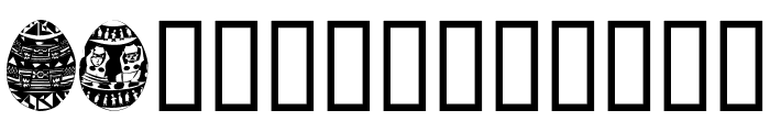 AfricanEggs Font LOWERCASE
