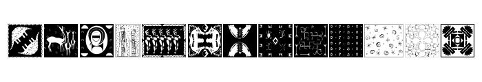 AfricanPattern Font LOWERCASE