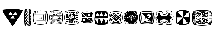 AfricanSymbols Font UPPERCASE