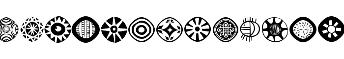AfricanSymbols Font LOWERCASE