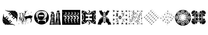 Africanissima Font LOWERCASE