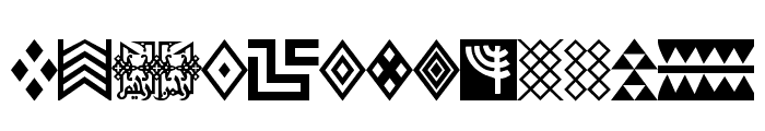Afrika Gold A Patterns Font LOWERCASE