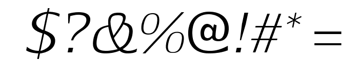 Aftaserif-Italic Font OTHER CHARS