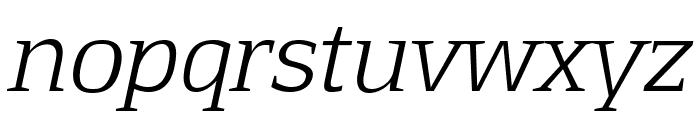 Aftaserif-Italic Font LOWERCASE